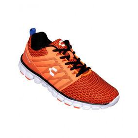 Tenis De Hombre Para Correr Textil Sintetico Naranja Marca C