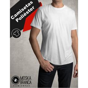 Camisetas 100% Poliéster Branca Sublimação Atacado Básicas