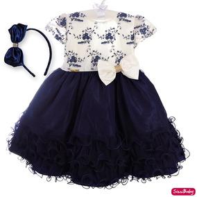Vestido Infantil Realeza Glamour Daminha Casamento Com Tiara