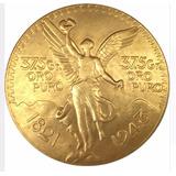 Replica 1821-1943 Moneda 50 Pesos Baño De Oro Souvenir Mexic