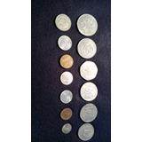 Lote De 13 Monedas Antiguas Mexicanas