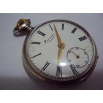 Relógio De Bolso Antigo Minerva Em Prata 800 Raro,revisado!