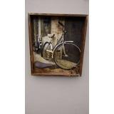 Quadro Decoração Vintage 3d Bike Bicicleta Velha 65x75cm
