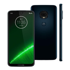 Celular Motorola Moto G7 Plus Azul Indig Tela 6.2 64gb