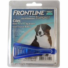 Anti Pulgas Remedio Frontline Azul Topspot Cão De 40 A 60kg