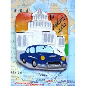 Cuba - Capitolio 9 - Carro Azul - Havana - Imã De Geladeira