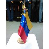 Bandera De Venezuela Para Escritorio 20x18 Tela Satinada