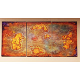 Cuadros - Tríptico Mapa World Of Warcraft L (80x40cmtotal)