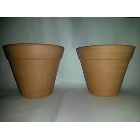 Par De Vasos De Ceramica Cru-barro-cachepot