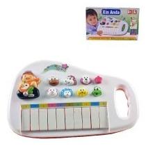 Piano Teclado Animal Musical Infantil Bebe E Criança Com Son
