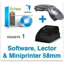 Programa Control Estacionamiento Lector Miniimpresora Pagos