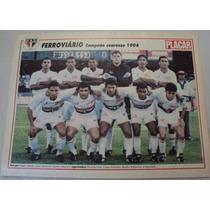 Poster Futebol Ferroviário Campeão Cearense 1994
