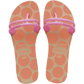 Sandalia Havaiana Flat Gum Fashion Areia 33/34