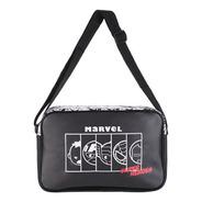 Bolsa Transversal Marvel Vingadores Miniso - Cor Preta