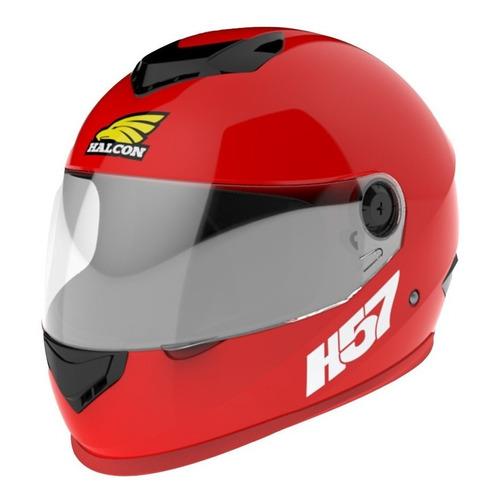 Casco para moto integral Halcon H57  rojo talle M