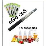 01 Cigarro Eletrônico Narguilé Ego Vaporizador + 05 E-liquid