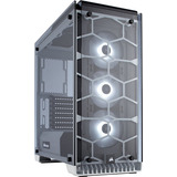 Gabinete Pc Gamer Corsair 570x Blanco Rgb Cristal 3 Fan