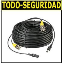 Cable 20mts Video Bnc + Alimentacion Energia / Ideal Cctv