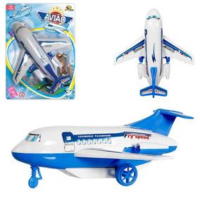 Avião A Fricção - Brinquedo - Veículo - 2 Unidades