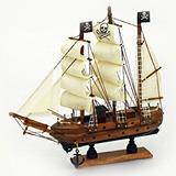 Barco Pirata De Madera De 9 X 9 Náutico Barco Marítimo Deco