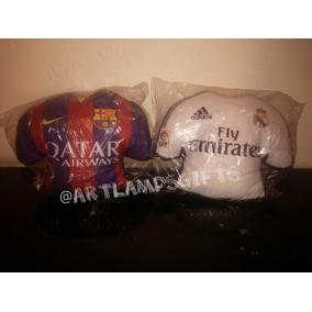 Peluche - Cojin Barcelona Real Madrid Camiseta