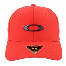 Boné Oakley Tincan Vermelho Qualidade Top Tamanho S/m Flex