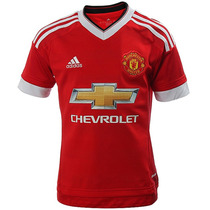Playera Local Manchester United 15/16 Niño adidas Ac1418
