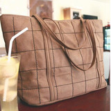 Pantalon Bolso Cuero Diamond Mate Pu Brown Marron Marron