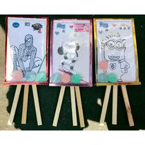 Paquete Caballetes, Ceramicas Y Libros De Colorear Fiesta