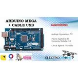 Arduino Mega + Usb Cable + 65 Jumpers Generico, Garantizado!