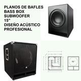 Subwoofer 15 - Planos De Bafles Fabricacion Profesional