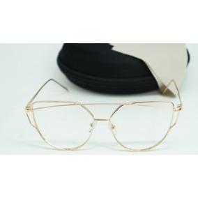 67ed8b88094e5 Armação De Oculos Feminino Quadrado Grande - Óculos no Mercado Livre ...