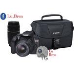Canon T6 Kit Premium + 18-55mm + 75-300mm + Bolso + Sd 16gb