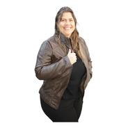 Jaqueta Feminina De Couro Pu - Plus Size  Couro Ecológico