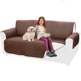 Funda 2 Plazas Protectora Reversible Para Sofa Sillon
