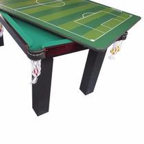 Mesa 4 Em 1 Sinuca Ping Pong Futebol Botão Klopf Frete Gráti