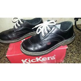 Zapatos Kickers De Cuero Negro Número 30