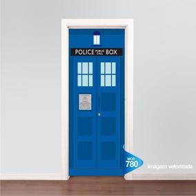 0faf41a32 Adesivo 123 Porta Dr Who Tardis Cabine Policia Mod 780. R  69 99