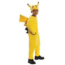 Disfraz Para Niño Traje De Niño De Pokemon Pikachu Deluxe -