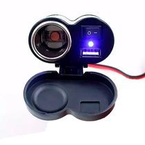 Carregador Celular E Gps Para Motos Com Usb 5v E Plug 12v