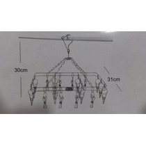 Mini Varal Aço Em Inox - 20 Unidades De Prendedores Em Inox