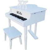Piano Infantil Schoenhut 30 Key Gloss White Baby Grand Piano