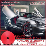 Protetor Roda Borda Borracha Moldada Vermelho Kit 4 Rodas