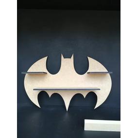 1 Pratileira Batman 40x60cm Em Mdf Cru