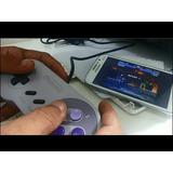 Controle Usb Super Nintendo Snes Para Pc Ou Android Com Otg