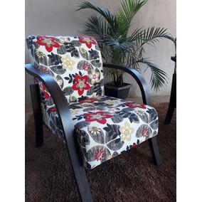 Poltrona Decorativa,cadeira Braço Madeira
