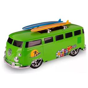 Carrinho Kombi Super Surf Retrô Brinquedo Infantil Poliplac