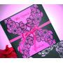 Tarjetas Caladas 15 Años Color Fucsia Y Negro