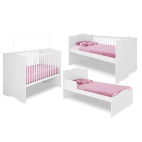 Berço Mini-cama Alegria Mdf Branco Brilho Certificado Bebê