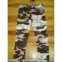Leggins Niñas Estampados Camuflaje Militar Talla 8 Y 10